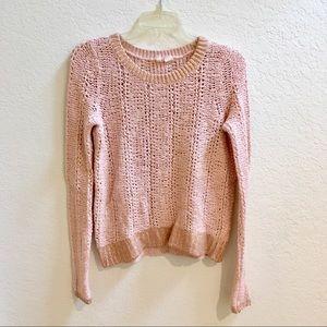 Anthropologie Moth Pink & Rose Gold Sweater XS